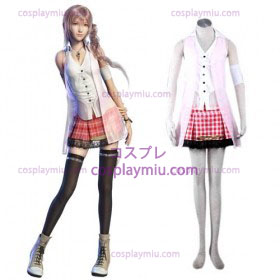 Final Fantasy XIII serah Kvinnor Cosplay Kostym
