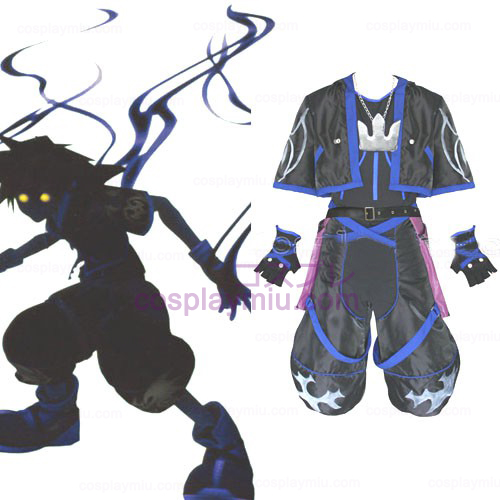Kingdom Hearts 2 Anti Sora Män Cosplay Kostym