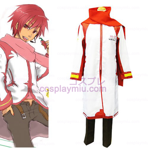 Vocaloid Akaito Red and White Cosplay Kostym