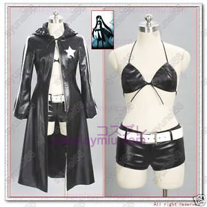 Vocaloid Black Rock Shooter Cosplay Kostym