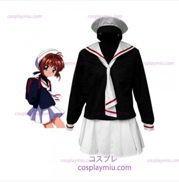 Cardcapture Sakura Tomoe Primary School Girls Cosplay Kostym