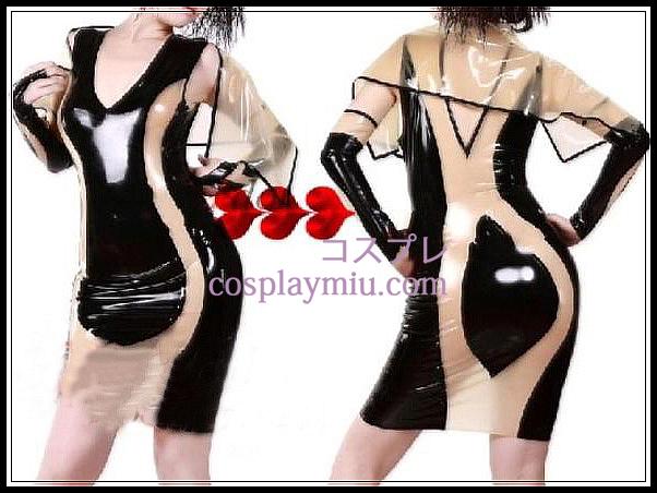 Latex klänning latex byxor