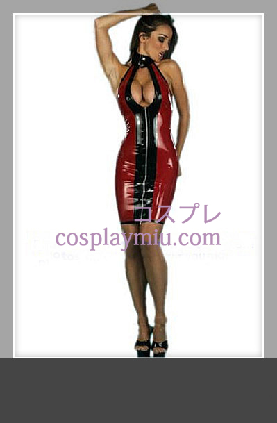 High Neck Sleeveless Slå fram Latex Kostym b68985323293c