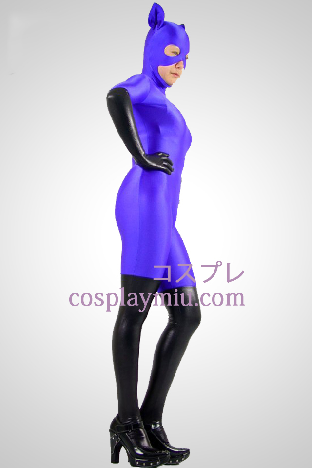 Lila Cat Woman Lycra Zentai Suit