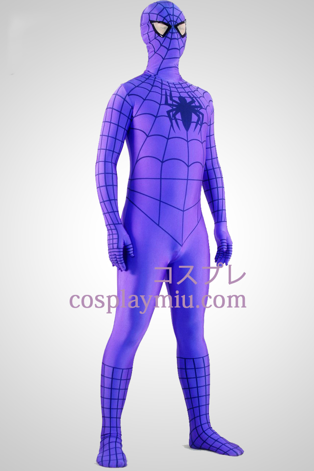 Lila Spiderman Superhero Zentai Suit