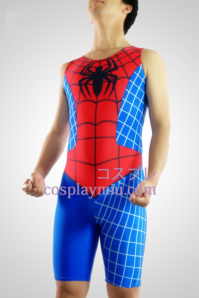 Spideman Lycra Ärmlös Gymnasium Suit