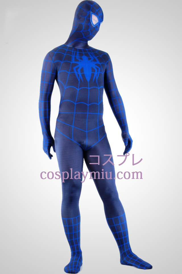 Svart och blå Spiderman Superhero Zentai Suit