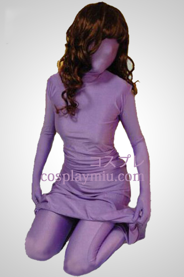 Lila Lycra Spandex Dress